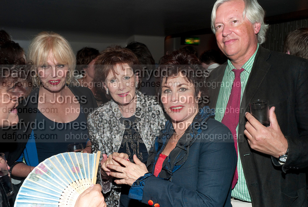 JOANNA LUMLEY; MARGERIE WALLACE; ( HEAD OF SANE) RUBY WAX; DR. MARK COLLINS, , Press night for Ruby Wax- Losing it. Duchess theatre. London. 1 September 2011. <br /> <br />  , -DO NOT ARCHIVE-© Copyright Photograph by Dafydd Jones. 248 Clapham Rd. London SW9 0PZ. Tel 0207 820 0771. www.dafjones.com.