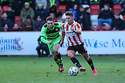 Cheltenham Town's Billy Waters during the Vanarama National League match between Cheltenham Town and Forest Green Rovers at Whaddon Road, Cheltenham, England on 21 November 2015. Photo by Shane Healey.