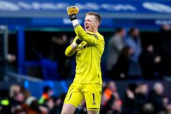 Jordan Pickford of Everton celebrates - Mandatory by-line: Robbie Stephenson/JMP - 01/03/2020 - FOOTBALL - Goodison Park - Liverpool, England - Everton v Manchester United - Premier League