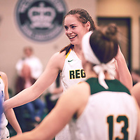 5th year forward, Christina McCusker (12) of the Regina Cougars during the Women's Basketball Home Game on Fri Nov 30 at Centre for Kinesiology,Health and Sport. Credit: Arthur Ward/Arthur Images