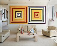 Frank Stella ptgs c.1974