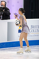 KELOWNA, BC - OCTOBER 25:  Korean figure skater Young You competes at Skate Canada International in the ladies short program at Prospera Place on October 25, 2019 in Kelowna, Canada. (Photo by Marissa Baecker/Shoot the Breeze)