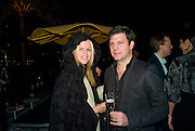 YVONNE FORCE VILLAREAL; LEO VILLAREAL, Fendi dinner at the home of Craig Robins. Part of Design Miami.  219 Aqua Terrace. Miami. 3 December 2008 *** Local Caption *** -DO NOT ARCHIVE -Copyright Photograph by Dafydd Jones. 248 Clapham Rd. London SW9 0PZ. Tel 0207 820 0771. www.dafjones.com