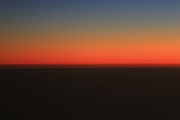 From 30,000 feet over the Simpson Desert sunset takes on a whole new definition