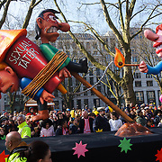 A float in the Karneval parade in Düsseldorf, Germany on 13 March 2016.