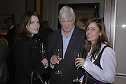 Holly White, John Graham and Victoria-Anne Bull  , Charles Finch and Weidenfeld and Nicolson host a party to celebrate the publication of 'Dancing Into Battle' by Nick Foulkes. The Westbury Hotel, Conduit St. London. 14 December 2006. ONE TIME USE ONLY - DO NOT ARCHIVE  © Copyright Photograph by Dafydd Jones 248 CLAPHAM PARK RD. LONDON SW90PZ.  Tel 020 7733 0108 www.dafjones.com
