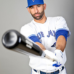 Feb 18, 2013; Dunedin, FL, USA; Toronto Blue Jays right fielder Jose Bautista (19) during photo day at Florida Auto Exchange Ballpark. Mandatory Credit: Derick E. Hingle-USA TODAY Sports