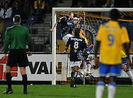 22-08-2008: Voetbal: RKC WAALWIJK:GO AHEAD EAGLES:WAALWIJK<br /> Sander Post kopt de gelijkmaker binnen<br /> Foto: Geert van Erven