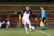 SYDNEY, AUSTRALIA - AUGUST 21: Melbourne Victory defender Corey Brown (3) kicks the ball at the FFA Cup Round 16 soccer match between APIA Leichhardt Tigers FC and Melbourne Victory at Leichhardt Oval in Sydney on August 21, 2018. (Photo by Speed Media/Icon Sportswire)