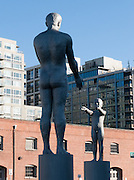 Boy and man sculpture at Seattle Art Museum's Olympic Sculpture Park, which opened in 2007 at the southern end of Myrtle Edwards Park. Free entry. Address: 2901 Western Avenue, Seattle, Washington 98121