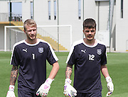 Dundee goalkeepers Scott Bain and David Mitchell at Dundee pre-season training at GLOBALL Football Park, Budapest, Hungary<br /> <br />  - &copy; David Young - www.davidyoungphoto.co.uk - email: davidyoungphoto@gmail.com