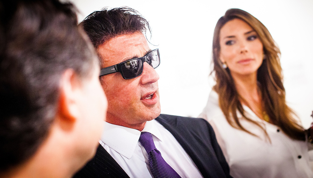 Sylvester Stallone at Art Basel Miami Beach 2009. He exhibited some of his paintings there.