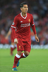 23rd August 2017 - UEFA Champions League - Play-Off (2nd Leg) - Liverpool v 1899 Hoffenheim - Roberto Firmino of Liverpool - Photo: Simon Stacpoole / Offside.