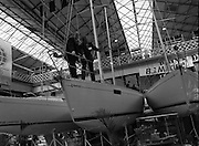 The 1989 Boat Show.   (R89)..1989..10.03.1989..03.10.1989..10th March 1989..Pat the Cope GallagherTD, Minister for the Marine attended the opening of the 1989 Boat Show held at the Point Depot, Dublin. The opening coincided with the minister's birthday.