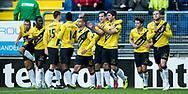 BREDA, NAC Breda - PSV, voetbal Eredivisie, seizoen 2013-2014, 10-11-2013, Rat Verlegh Stadion, NAC viert de 2-1 van NAC Breda speler Kees Kwakman (3R).