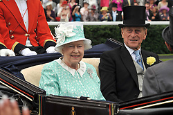 HM THE QUEEN and the DUKE OF EDINBURGH at the 3rd day of Royal Ascot 2009 on 18th June 2009.