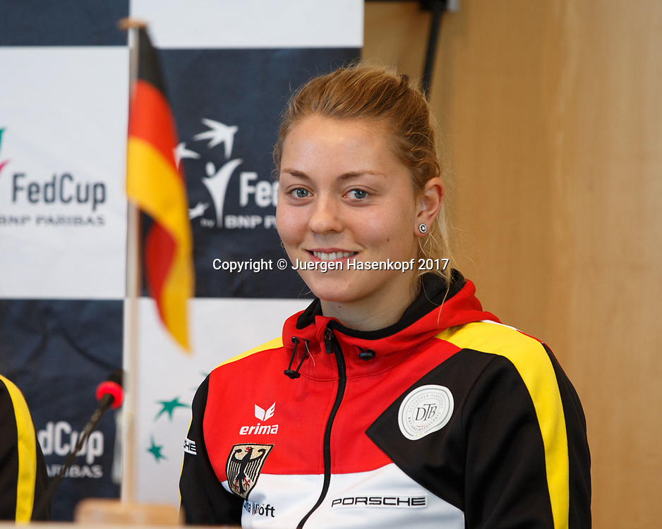 Fed Cup GER-UKR, Deutschland - Ukraine, Auslosung im Rathaus Stuttgart, <br /> CARINA WITTHOEFT(GER)