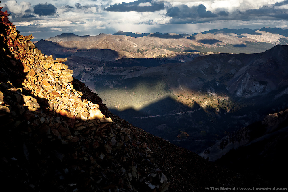 Sunset from 13,000 feet in the Colorado Rockies near Aspen.