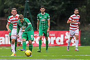 Celtic FC Midfielder Kris Commons plays the through ball during the Ladbrokes Scottish Premiership match between Hamilton Academical FC and Celtic at New Douglas Park, Hamilton, Scotland on 4 October 2015. Photo by Craig McAllister.