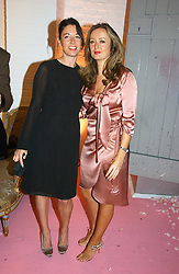 Left to right, MARY McCARTNEY and LUCY YEOMANS at a dinner hosted by Harpers Bazaar to celebrate the launch of the fragrance Flowerbomb by Viktor & Rolf held at Elms lester, Flitcroft Street, London WC2 on 31st May 2006.<br /><br />NON EXCLUSIVE - WORLD RIGHTS