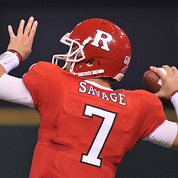 Dec 19, 2009; St. Petersburg, Fla., USA; Rutgers quarterback Tom Savage (7) makes a pass during NCAA Football action in Rutgers' 45-24 victory over Central Florida in the St. Petersburg Bowl at Tropicana Field.