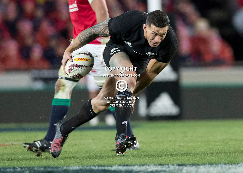 Sonny Bill Williams during game 7 of the British and Irish Lions 2017 Tour of New Zealand, the first Test match between  The All Blacks and British and Irish Lions, Eden Park, Auckland, Saturday 24th June 2017<br /> (Photo by Kevin Booth Steve Haag Sports)<br /> <br /> Images for social media must have consent from Steve Haag
