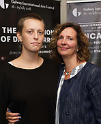 """18/07/2018 repro free:  Paul Fahy GIAF with Emily and Jane Powers and Jen Coppinger producer  at the World Premiere of The Galway international Arts Festival and Jen Coppinger in assoc with Poetry Ireland """" Incantata  """" at the Town Hall theatre  Photo:Andrew Downes, XPOSURE"""