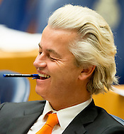 DEN HAAG - Geert Wilders (PVV) tijdens de Algemene Politieke Beschouwingen, die traditioneel volgen op Prinsjesdag. COPYRIGHT ROBIN UTRECHT