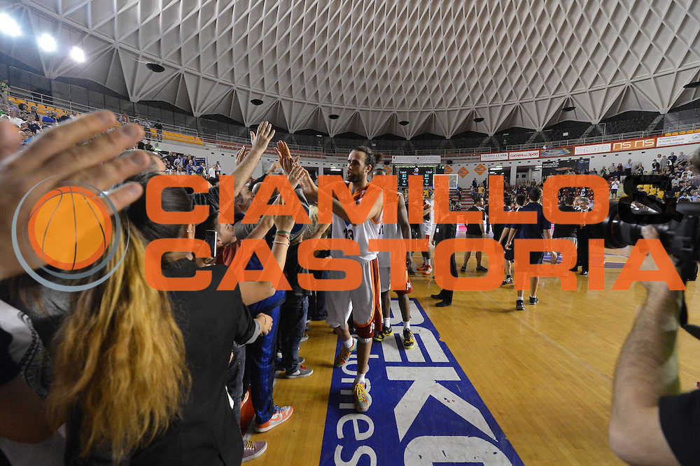 DESCRIZIONE : Roma Lega A 2012-2013 Acea Roma Sutor Montegranaro<br /> GIOCATORE : Luigi Datome <br /> CATEGORIA : esultanza tifosi palazzetto marketing<br /> SQUADRA : Acea Roma<br /> EVENTO : Campionato Lega A 2012-2013 <br /> GARA : Acea Roma Sutor Montegranaro<br /> DATA : 05/05/2013<br /> SPORT : Pallacanestro <br /> AUTORE : Agenzia Ciamillo-Castoria/ GiulioCiamillo<br /> Galleria : Lega Basket A 2012-2013  <br /> Fotonotizia : Roma Lega A 2012-2013 Acea Roma Sutor Montegranaro<br /> Predefinita :
