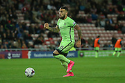 Manchester City defender Nicolas Otamendi during the Capital One Cup match between Sunderland and Manchester City at the Stadium Of Light, Sunderland, England on 22 September 2015. Photo by Simon Davies.