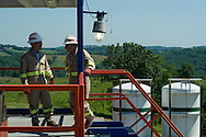 Consol Energy executives on a Marcellus Shale well in Greene County, PA