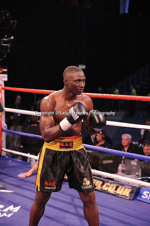Patrick Mendy (pictured) defeats Paul Samuels at London's Olympia on Saturday 30th April 2011. Matchroom Sport. Photo credit © Leigh Dawney.