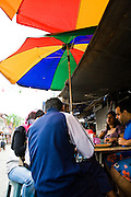 """Appam, South Indian """"crepe"""", hawker stall."""