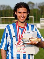 FODBOLD: Lawin Rashid (Snekkersten) blev kåret som pokalfighter efter finalen i Seriepokalen mellem Hundige Boldklub og Snekkersten IF den 18. maj 2017 på Brøndby Stadion. Foto: Claus Birch