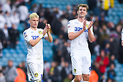 Leeds United's goal scorers Ezgjan Alioski of Leeds United (10) and Patrick Bamford of Leeds United (9) at the full time whistle during the EFL Sky Bet Championship match between Leeds United and Bolton Wanderers at Elland Road, Leeds, England on 23 February 2019.