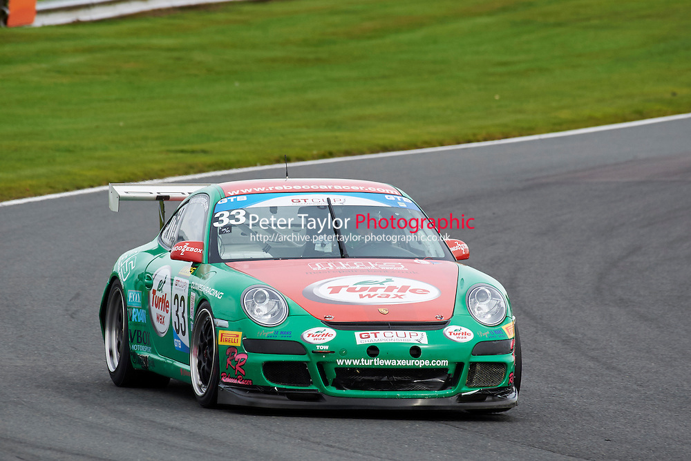 #33 Rebecca JACKSON Porsche 997 GT3 Cup during GT Cup - Race 1 as part of the MSVR Oulton Park 10th October 2015 at Oulton Park, Little Budworth, Cheshire, United Kingdom. October 10 2015. World Copyright Taylor/PSP. Copy of publication required for printed pictures.  Every used picture is fee-liable. http://archive.petertaylor-photographic.co.uk