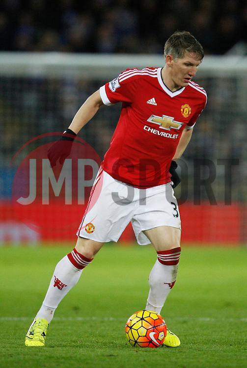 Bastian Schweinsteiger of Manchester United in action  - Mandatory byline: Jack Phillips/JMP - 07966386802 - 28/11/2015 - SPORT - FOOTBALL - Leicester - King Power Stadium - Leicester City v Manchester United - Barclays Premier League