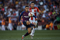 September 29, 2018 - Barcelona, Barcelona, Spain - Philippe Coutinho (L) of FC Barcelona competes for the ball with Oscar de Marcos Arana of Athletic Club de Bilbao during the La Liga match between FC Barcelona and Athletic Club de Bilbao at Camp Nou on September 29, 2018 in Barcelona, Spain  (Credit Image: © David Aliaga/NurPhoto/ZUMA Press)