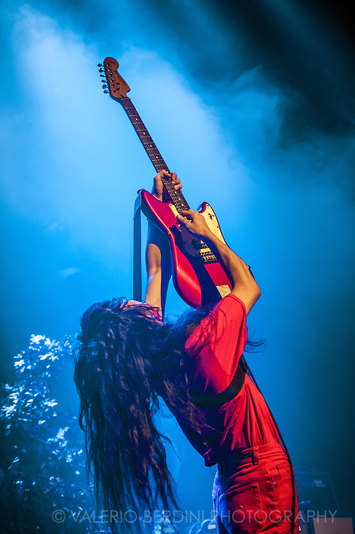Bo Ningen live on stage at the Roundhouse opening for British Sea Power on 13 of June 2015