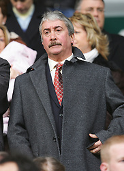 LIVERPOOL, ENGLAND - SATURDAY JANUARY 15th 2005: Liverpool's Chairman David Moores watches from the director's box as his side are beaten 1-0 by Manchester United during the Premiership match at Anfield. (Pic by David Rawcliffe/Propaganda)