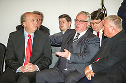 Pictured: Andrew Burns Leader of Scottish Labour group in Edinburgh, Frank McAvetee and Ian Laverty Labour's lead stratagist for the election.<br /> <br /> Scottish Labour leader Kezia Dugdale and deputy leader Alex Rowley had t make swift changes to their respective speeches forllowing the announcement of a General Election in June just before they headed to the lectern at Edinburgh's Dynamic Earth to launch Scottish Labour's council election campaign today. <br /> Ger Harley | EEm 18 April 2017