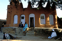 Mali - Segou - Ségoukoro - Ancien royaume Bambara - Mosquée de terre - Architecture de terre