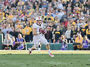 PASADENA, CA - JANUARY 1:  Christian McCaffrey #5 of the Stanford Cardinal runs with the ball during the 102nd Rose Bowl game between Stanford and the Iowa Hawkeyes played on January 1, 2016 at the Rose Bowl stadium in Pasadena, California.  (Photo by David Madison/Getty Images) *** Local Caption *** Christian McCaffrey