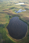 Prairie Potholes - aerial view; North Dakota Missouri Coteau; Ward Co.
