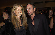 Jemima Khan and Patrick Cox. Unicef Toy Soldiers Gala, Grosvenor House, London.  25 September 2001. © Copyright Photograph by Dafydd Jones 66 Stockwell Park Rd. London SW9 0DA Tel 020 7733 0108 www.dafjones.com