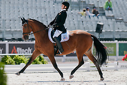 Rebecca Heart riding Schroeters Romani in the Grade II Individual Tests at the 2014 World Equestrian Games, Caen, Normandy, France
