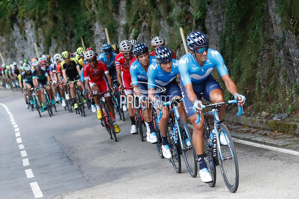 Daniele Bennati (ITA, Movistar) during the 73th Edition of the 2018 Tour of Spain, Vuelta Espana 2018, Stage 13 cycling race, Candas Carreno - La Camperona 174,8 km on September 7, 2018 in Spain - Photo Luca Bettini / BettiniPhoto / ProSportsImages / DPPI