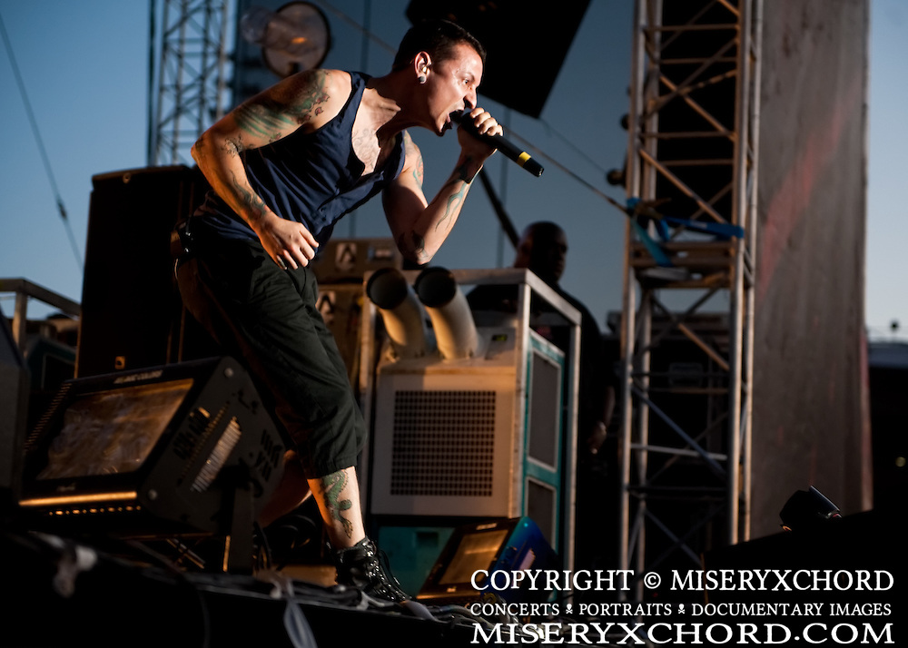 Linkin Park performs at KROQ's Epicenter 2009 at the Fairplex in Pomona California USA