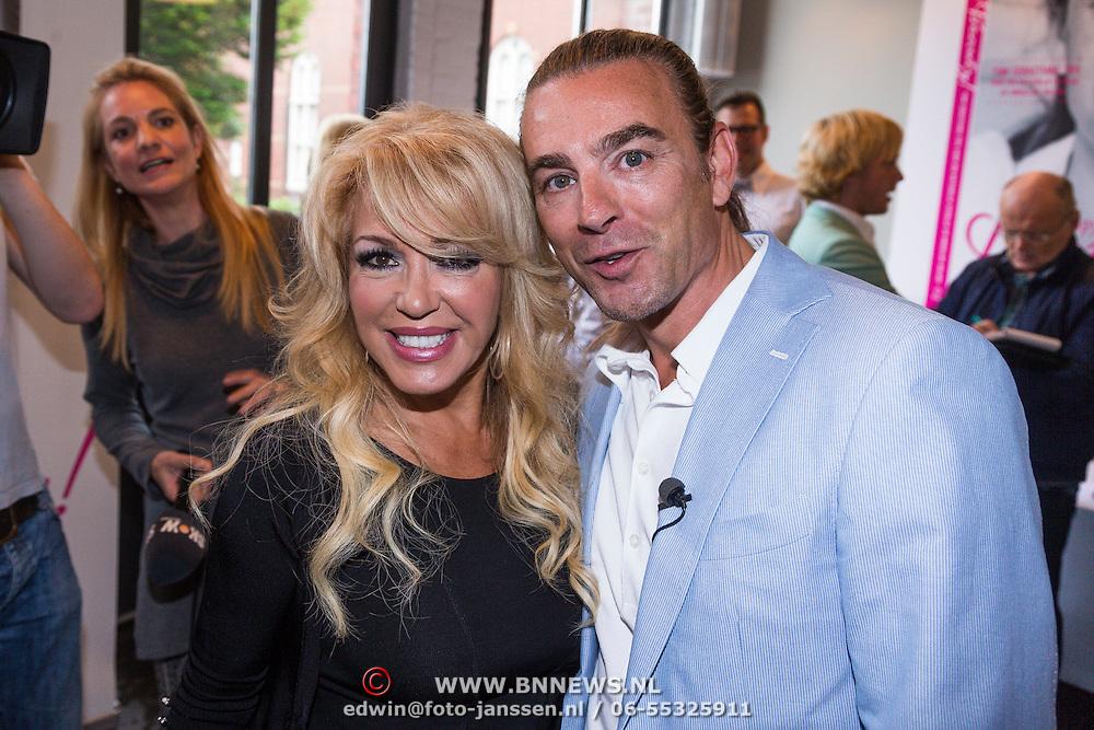 NLD/Amsterdam/20130621 - Boekpresentatie Happy Go Beauty van Tom Sebastian, met Patricia Paay