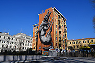 Murales Lupa a Via Galbani Roma Artista  belga Roa